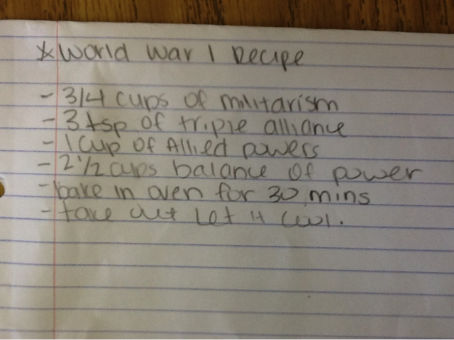 How to Start a World War: Recipe